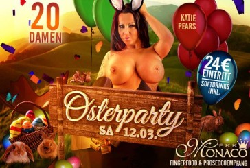 Samstag, den 12.03.: Osterparty mit Katie Pears